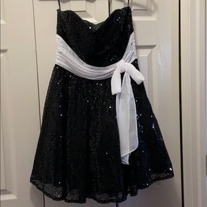 Betsey Johnson sequined dress with white bow